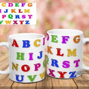 Кружка с английским алфавитом