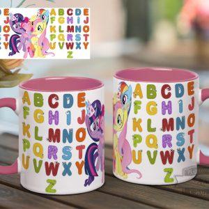 Кружка с английским алфавитом и май литл пони