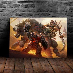 Постер на металле Битва за Азерот world of warcraft
