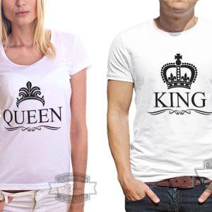 Футболка король и королева