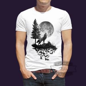 футболка летучие мыши и волк