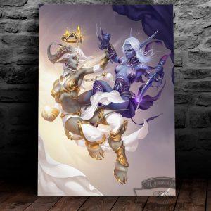 постер на металле темный ельф и дреней