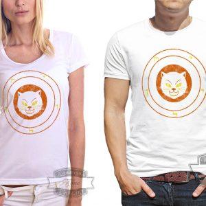 Футболка символ кошка с рунами