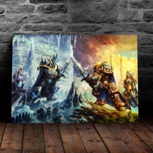 Постер на металле Король Лич и Артас