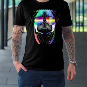 футболка черная собака в очках и наушниках