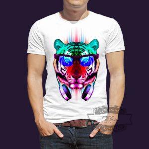 футболка диско тигр