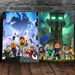 постер на металле Майнкрафт Minecraft