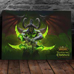 постер на металле с иллиданом WoW Burning Crusade