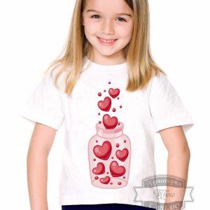 Футболка детская с баночкой сердечек