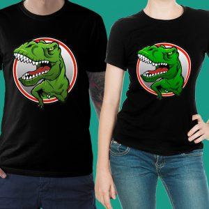 футболка черная с динозавром