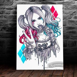постер на металле Харли Квинн