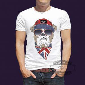 футболка английский бульдог
